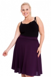 PRE ORDER: Pretty Pleated Flared Skater Skirt - Plum