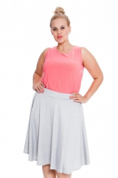 PRE ORDER: Pretty Pleated Flared Skater Skirt - Silver Grey