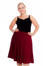 PRE ORDER: Pretty Pleated A-Line Skirt - Wine