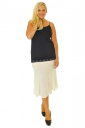 PRE ORDER: Wonderful Wispy Jagged Edge Panel Skirt - Cream