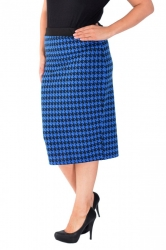 PRE ORDER: Professional Houndstooth Midi Pencil Ski - Royal Blue