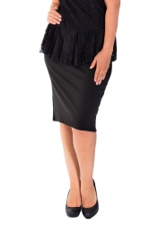 PRE ORDER: Essential Ponte Pencil Skirt - Black