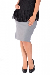 PRE ORDER: Essential Ponte Pencil Skirt - Grey