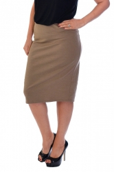 PRE ORDER: Essential Ponte Pencil Skirt - Mocha