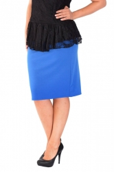 PRE ORDER: Essential Ponte Pencil Skirt - Royal Blue