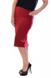 PRE ORDER: Essential Ponte Pencil Skirt - Wine