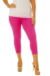PRE ORDER: Essential Versatile Cropped Leggings - Cerise