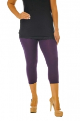 PRE ORDER: Essential Versatile Cropped Leggings - Purple
