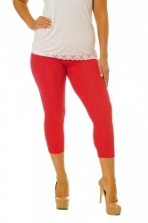 PRE ORDER: Essential Versatile Cropped Leggings - Red