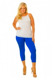 PRE ORDER: Essential Versatile Cropped Leggings - Royal Blue