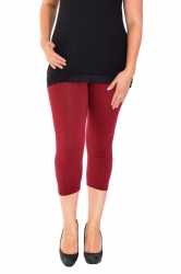 PRE ORDER: Essential Versatile Cropped Leggings - Wine