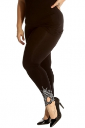 PRE ORDER: Lovely Embellished Laser Cut Leggings - Black