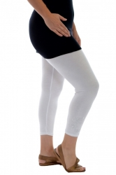 PRE ORDER: Embellished Butterfly Foil Cropped Leggings - White