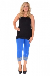 PRE ORDER: Embellished Scalloped Leggings - Royal Blue & Silver