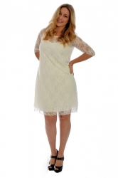 PRE ORDER: Sexy Signature Lace Dress - Cream