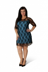 PRE ORDER: Sexy Signature Lace Dress - Turquoise