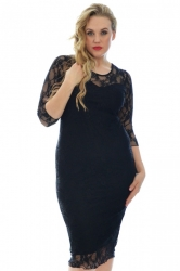 PRE ORDER: Sexy Lace Sweetheart Sheath Dress - Black