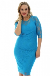 PRE ORDER: Sexy Lace Sweetheart Sheath Dress - Turquoise
