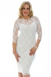 PRE ORDER: Sexy Lace Sweetheart Sheath Dress - White