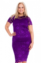 PRE ORDER: Floral Lace Bodycon Dress - Purple