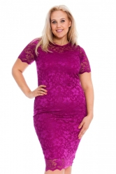PRE ORDER: Floral Lace Bodycon Dress - Magenta