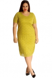 PRE ORDER: Floral Lace Midi Dress - Olive