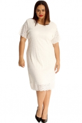 PRE ORDER: Floral Lace Midi Dress - White