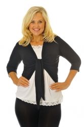 PRE ORDER: Too Cute Two Way Tie Shrug - Black