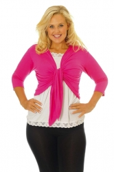 PRE ORDER: Too Cute Two Way Tie Shrug - Cerise