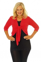 PRE ORDER: Too Cute Two Way Tie Shrug - Red