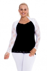 PRE ORDER: Fabulous Floral Lace Sleeves / Shrug - White