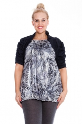 PRE ORDER: Cool Cotton Ruched Plus Size Bolero Shrug - Charcoal