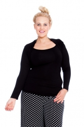 PRE ORDER: Versatile Viscose Long Sleeves / Shrug - Black