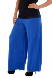 PRE ORDER: Lovely Light Crepe Palazzo Pants - Royal Blue