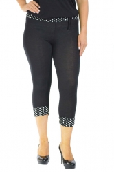 PRE ORDER: Cute Cropped Polka Dot Leggings - Black
