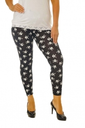 PRE ORDER: Bold Print Plus Size Leggings - Pirate Skull