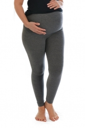 PRE ORDER: Essential Versatile Plus Size Maternity Leggings-Grey