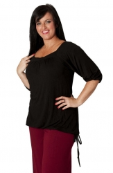 PRE ORDER: Cute Casual Square Neck Top - Black