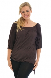 PRE ORDER: Cute Casual Square Neck Top - Brown