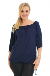PRE ORDER: Cute Casual Square Neck Top - Navy