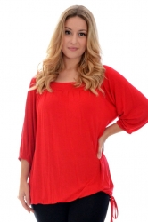 PRE ORDER: Cute Casual Square Neck Top - Red