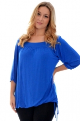 PRE ORDER: Cute Casual Square Neck Top - Royal Blue