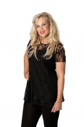 PRE ORDER: Stylish Sweetheart Lined Lace Top - Black