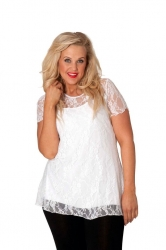 PRE ORDER: Stylish Sweetheart Lined Lace Top - White