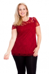 PRE ORDER: Stylish Sweetheart Lined Lace Top - Wine