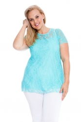 PRE ORDER: Stylish Sweetheart Lined Lace Top - Mint