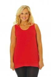 PRE ORDER: Simple Wide Strap Fitted Cami - Red