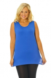 PRE ORDER: Simple Wide Strap Fitted Cami - Royal Blue