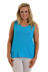 PRE ORDER: Simple Wide Strap Fitted Cami - Turquoise
