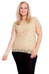 PRE ORDER: Stunning Sequin Lace Top - Gold